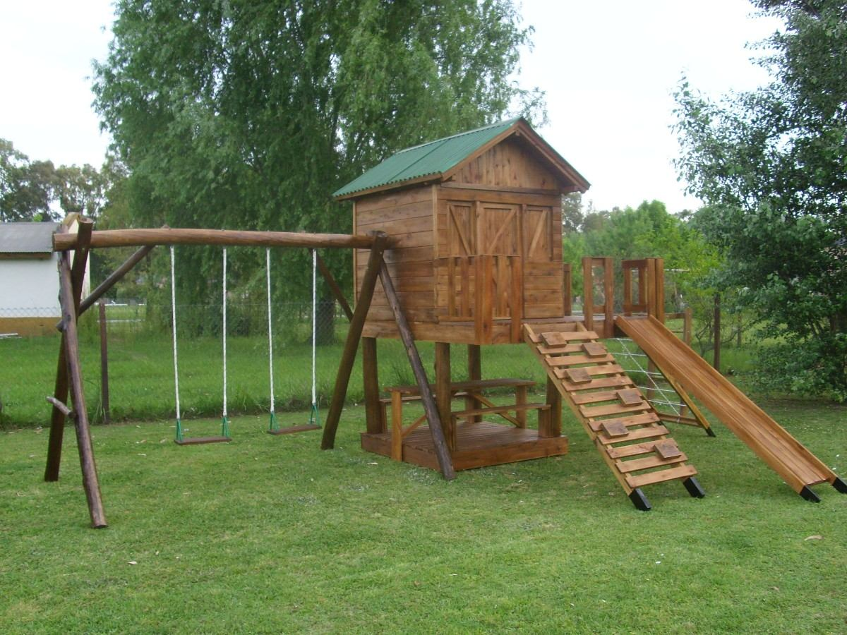 Awesome juegos de jardin para nios madera contemporary for Casita madera jardin